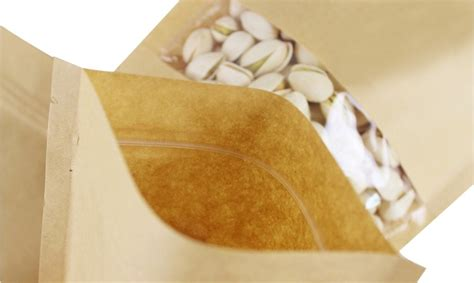 Standing Pouch Zipper Brown taobao stand up zipper pouch for snack dried fruit nuts