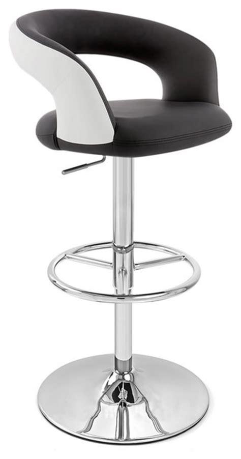 monza bar stool monza adjustable height swivel armless barstool black and