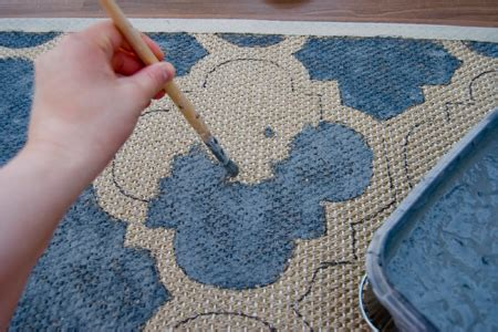 Customize Your Own Rug by Home Dzine Craft Ideas Paint A Rug With Your Own Custom