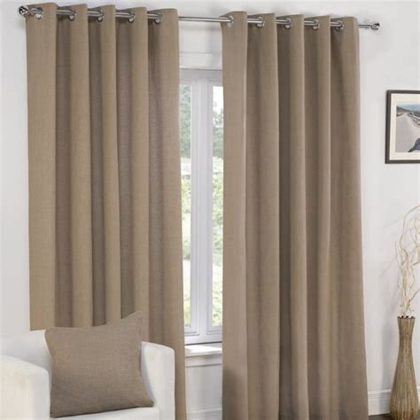 taupe curtains uk plain taupe mocha lined eyelet curtains tony s