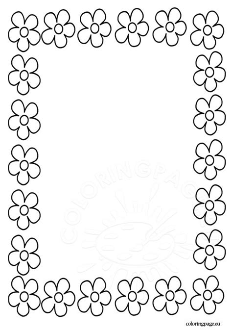 free coloring pages of floral border
