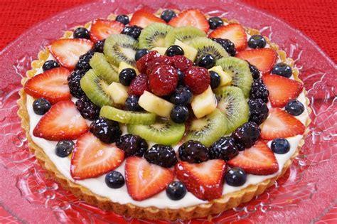 fruit tart recipe how to make with filling easy diane kometa dishin with di video 74 youtube