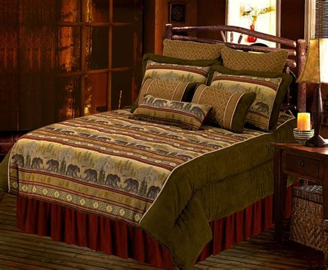 wilderness comforters bear collection inviting wilderness bedding pattern brings