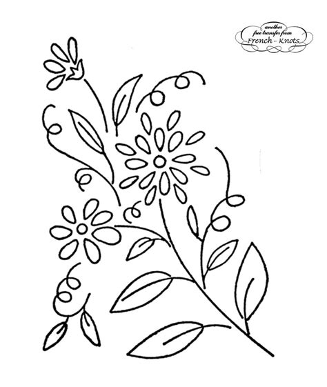 flower pattern embroidery free floral hand embroidery transfer patterns