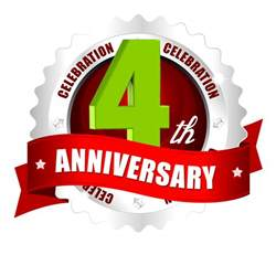 4th anniversary year vector logo and images in png naveengfx