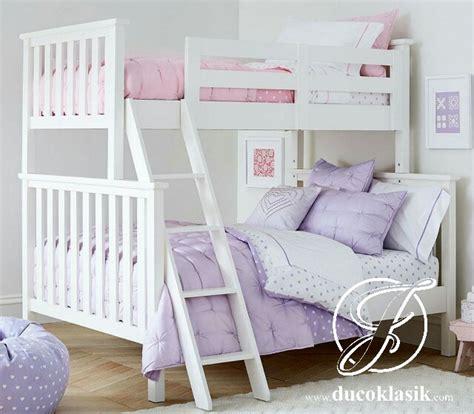 Tempat Tidur Anak Tingkat Ranjang 2 Susun Putih Kayu Mahoni jual tempat tidur anak tingkat minimalis susun terbaru