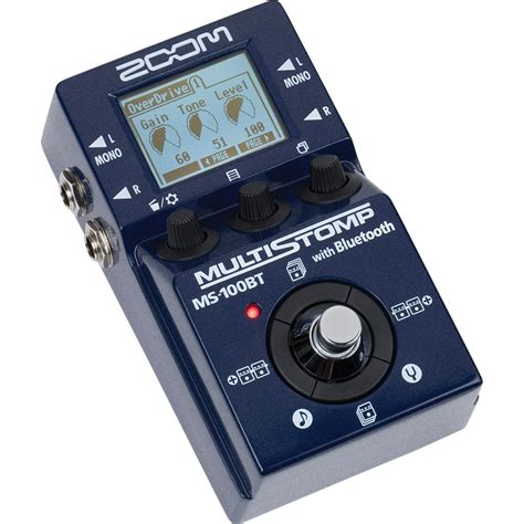 Zoom Multistomp zoom ms 100bt multistomp guitar pedal with bluetooth zms 100bt