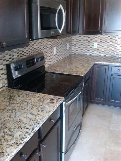 backsplash option  espresso cabinets kitchen design