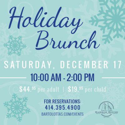 harbor house brunch holiday brunch at harbor house presented by harbor house milwaukee365 com