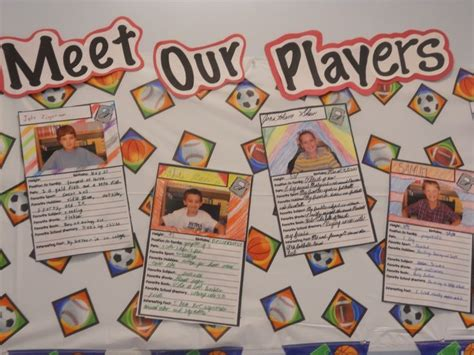 themed events for college students back to school student baseball cards bulletin boards