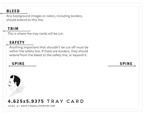 Tray Card Template by Resource Templates 171 Fireball Printing