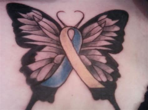 tattoo for mental health awareness a butterfly tattoo with a cushing s syndrome awareness