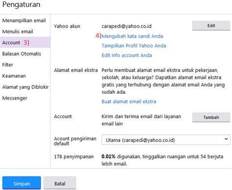 cara membuat pasword yahoo cara merubah mengganti password email gmail dan yahoo