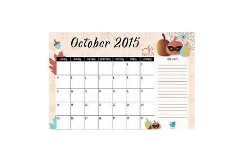 2015 free download calendar october