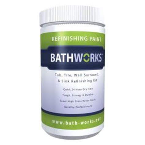 bathtub refinishing products home depot bathworks 22 oz diy bathtub refinish kit with slipguard white bwns 07 the home depot