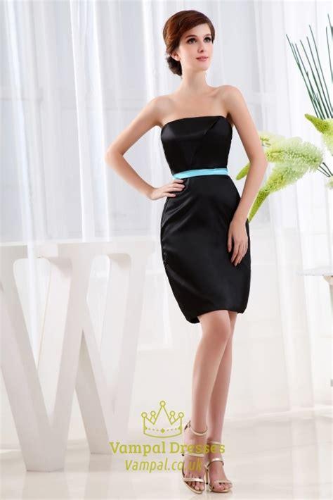 strapless  black dress short black strapless