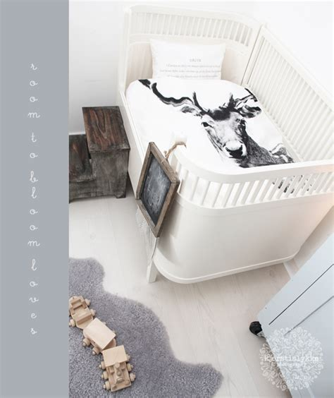 Black And White Boy Crib Bedding Scandinavian Room By Nord Room To Bloom