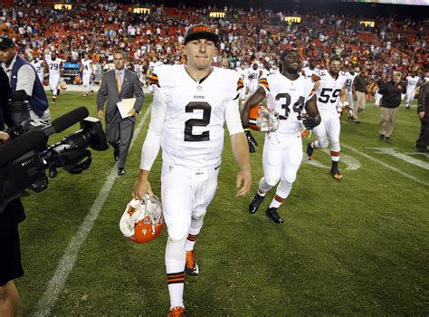 johnny manziel bench johnny manziel will start nfl season on the bench cbs news