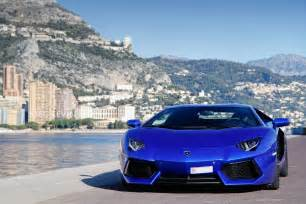 Lamborghini In Blue Lamborghini Aventador Blue Wallpaper Hd Wallpaper