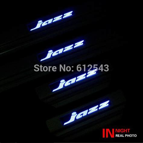 Sill Plate Stainless Led Biru Honda Freed car 304 stainless steel scuff plate blue led door sill