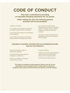 Ethics Template by Code Of Conduct Exle 5 Free Templates In Pdf Word
