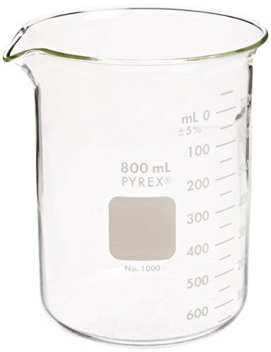 Duran Glass Beaker Low Form With Spout 800ml corning pyrex 1000 800 glass 800ml graduated low form