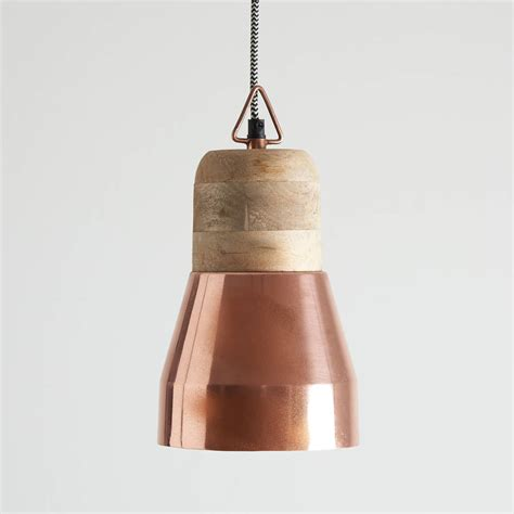 Wood Pendant Lights Gold And Wood Pendant Light By Horsfall Wright Notonthehighstreet