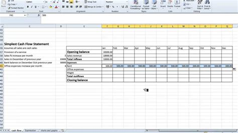flow statement template excel spreadsheet simple flow statement
