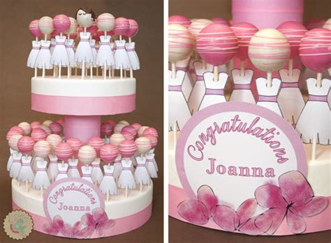 cake pops ideas for bridal shower lottie and lil 187 classic pink and white bridal cake pops