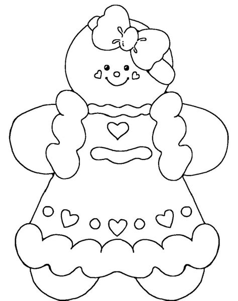 christmas coloring pages gingerbread girl 202 best clipart gingerbread men images on pinterest