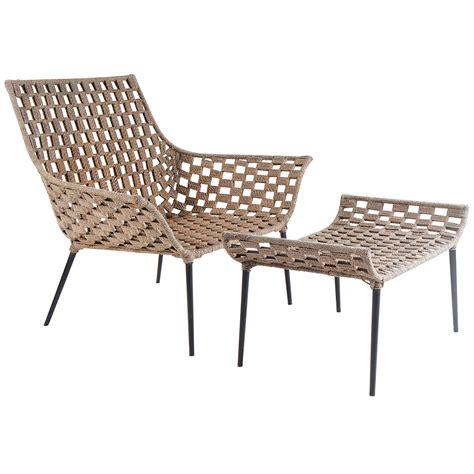 1960 S Modern Home Design Mid Century Modern Macram 233 Chair With Foot Rest After Hans