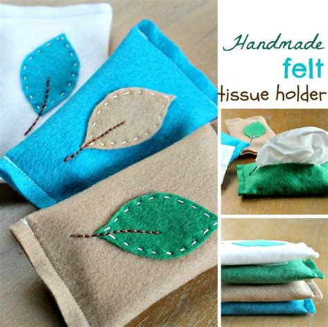 Handmade Tissue Holder - how to felt tissue holder make