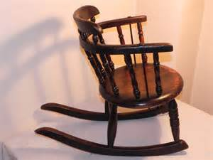 Small Child S Chair small childs oak rocking chair antiques atlas