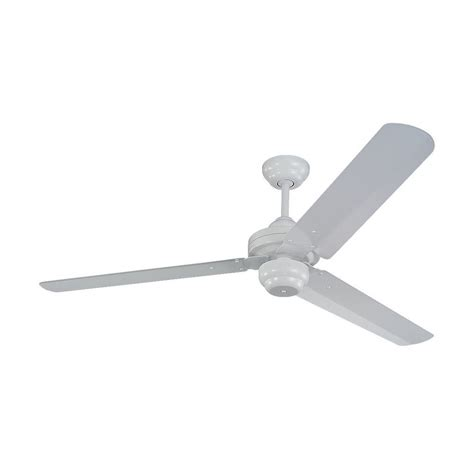 modern ceiling fan without light in white finish 3su54wh
