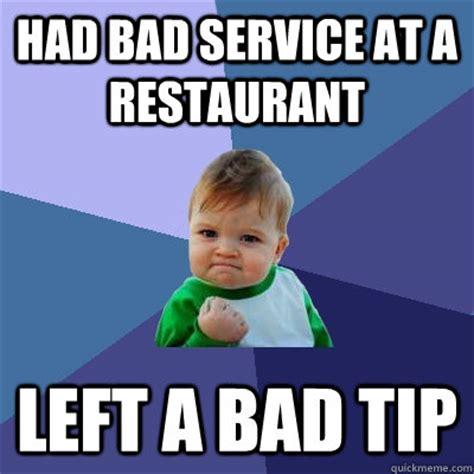 Meme Restaurant - bad service bangers and mash