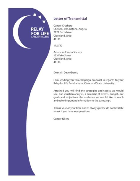 Thank You Letter For Donation To American Cancer Society Relay For