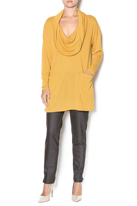 Cozy Mustard Top emerald mustard tunic top from tennessee by southern muse