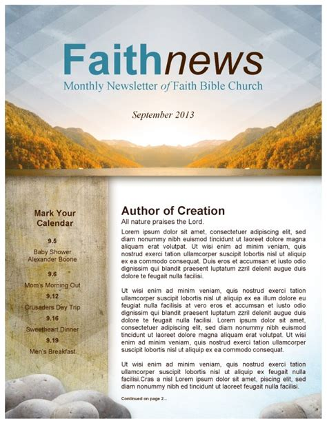 Beautiful Edit Ready Church Newsletters And Newsletter Templates Religious Newsletter Templates