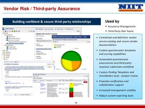 Vendor Risk Management 2013 Third Risk Assessment Template