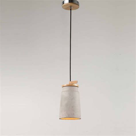 Concrete Pendant Light Cylindrical Concrete Pendant Light