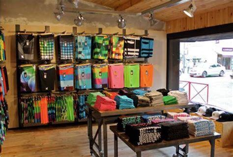 hurley by see and buy store boardshort wall merchandising shop ideas