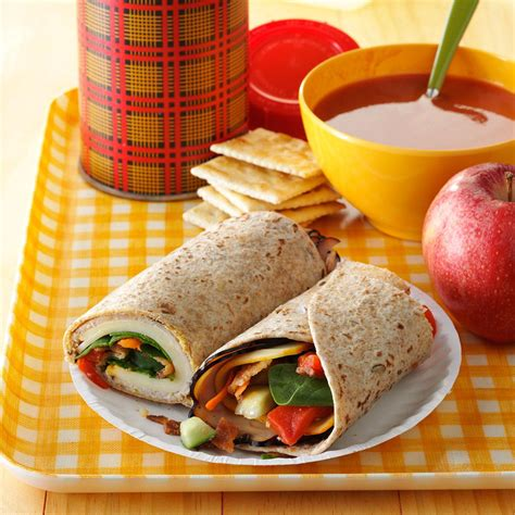 turkey lunch box wraps recipe taste of home