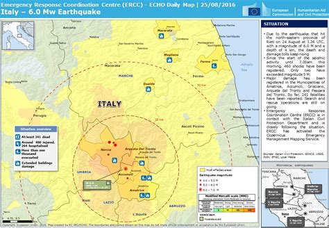 italy earthquake map daily maps