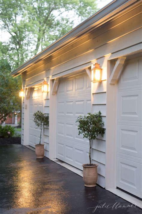 garage door lights home easy outdoor decorating and design via julieblanner