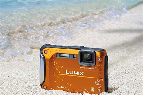 rugged point and shoot panasonic lumix dmc ft3 rugged and orange technabob