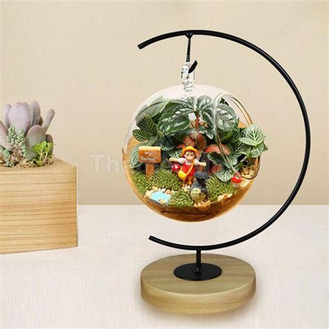 Plant Holder - iron hanging plant flower stand holder for landscaping