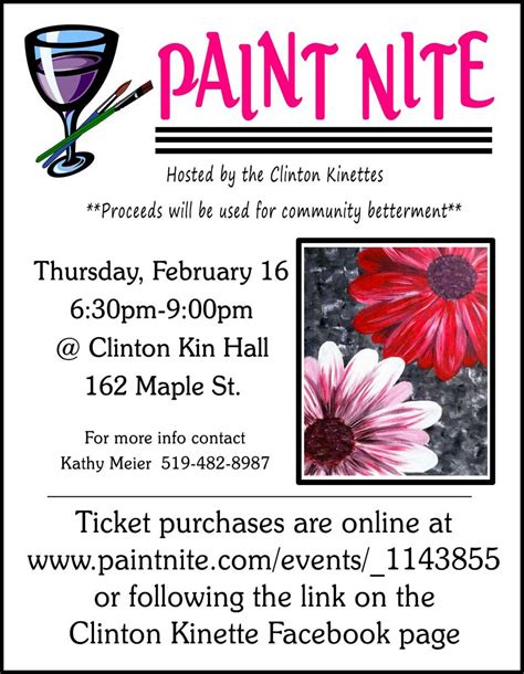 paint nite calendar clinton kinettes paint nite district one kin