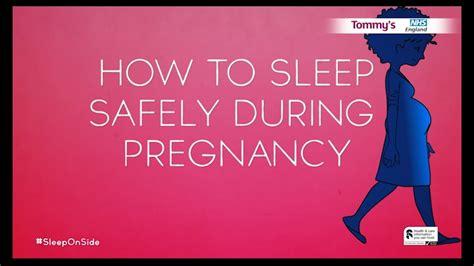 sleep safely  pregnancy sleeponside youtube
