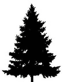 christmas tree silhouette clip art clipart best