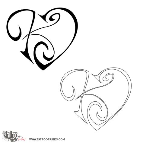 tattoo letter k designs of k j union affection custom